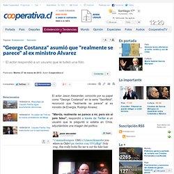 """""""George Costanza"""" asumió que """"realmente se parece"""" al ex ministro Alvarez"""