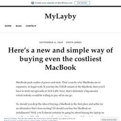 MacBook pay weekly