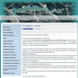 I motivi, il perchè della costruzione della diga, progetto e studi della realizzazione - Ridracoli.it
