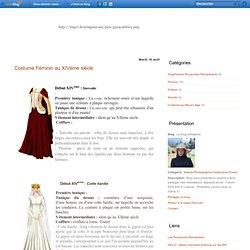 Costume Féminin au XIVème siècle - Le blog d'Alatariel