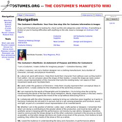 Your Free One-stop Site for Costume Information & Images
