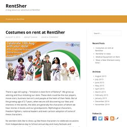 Costumes on rent at RentSher