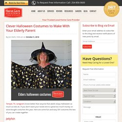 Clever Costumes Seniors Can Make for Halloween