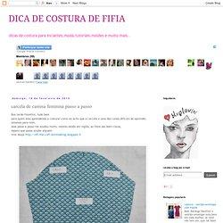DICA DE COSTURA DE FIFIA: carcela de camisa feminina passo a passo