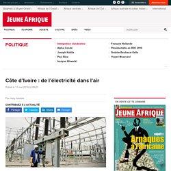 Côte d'Ivoire : de l'électricité dans l'air