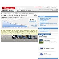 Cote argus Opel astra ii 1.6 16s fashion 5p