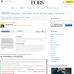 Cotisation : Appel à cotisation (Association) - Cotisation - ABC-Lettres par l'Obs