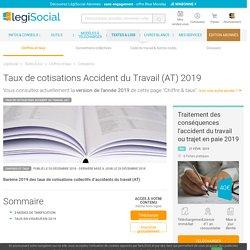 Taux de cotisations accident du travail 2019 2018 2017 2016 2015 2014 2013 2012 2011