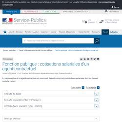 Fonction publique : cotisations salariales d'un agent contractuel