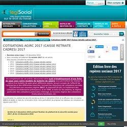 Taux de cotisations sociales AGIRC 2017 2016 2015 2014 2013 2012 2011 caisse retraite cadres LégiSocial