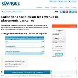 Cotisations sociales sur les placements: CSG, CRDS et Prélèvement Social