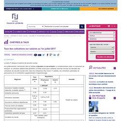 Taux des cotisations sur salaires au 1er janvier 2016
