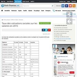 Taux des cotisations sociales sur les salaires en 2015
