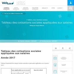 Tableau des cotisations sociales sur salaires 2017 - WebLex