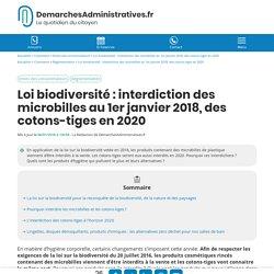 Les cotons-tiges seront interdits à la vente en 2020