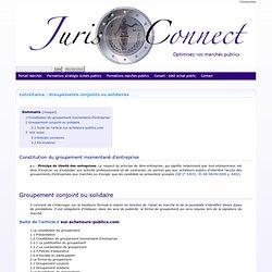 Cotraitance : Groupements conjoints ou solidaires - Juris-connect
