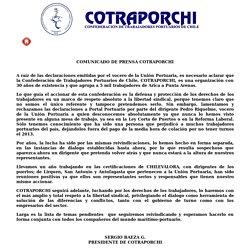 Cotraporchi Noticias