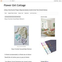 Easy Crochet Snowflake Pattern