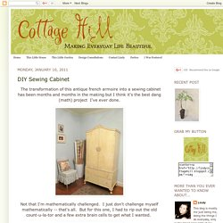 DIY Sewing Cabinet