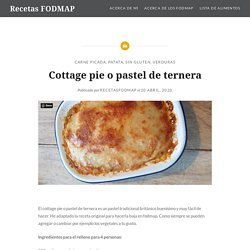 Cottage pie o pastel de ternera – Recetas FODMAP
