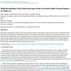 Cottam et al., Accretion Disk Corona Source 4U 1822-37