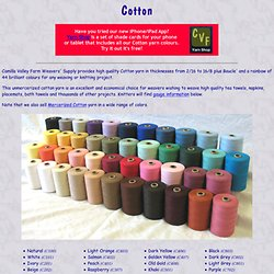 Cotton Yarn Home Page (Unmercerized Cotton)