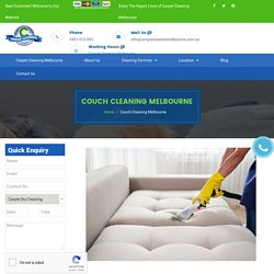 Couch Cleaning Melbourne - 0451 010 043 - Couch Steam Cleaning