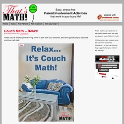 Couch Math – Relax!