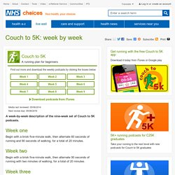 The Couch to 5K plan - Live Well - NHS Choices