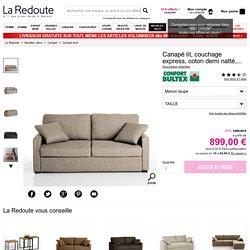 Canapé lit, couchage express, coton demi natté, timor La Redoute Interieurs