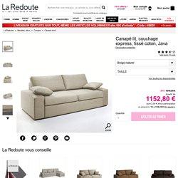 Canapé lit, couchage express, tissé coton, java La Redoute Interieurs