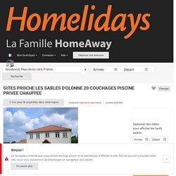 GITES PROCHE LES SABLES D'OLONNE 20 COUCHAGES PISCINE PRIVEE CHAUFFEE - Vendée