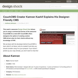 CouchCMS Creator Kamran Kashif Explains His Designer-Friendly CMS