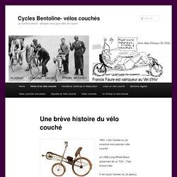 Le vélo couché est né quasi en même temps que le vélo droit