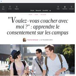 """""""Voulez-vous coucher avec moi ?"""" : apprendre le consentement sur les campus"""