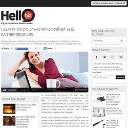 Un site de couchsurfing dédié aux entrepreneurs