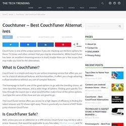 Couchtuner - Best CouchTuner Alternatives
