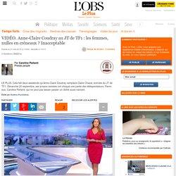 VIDÉO. Anne-Claire Coudray au JT de TF1 : les femmes, nulles en créneaux ? Inacceptable