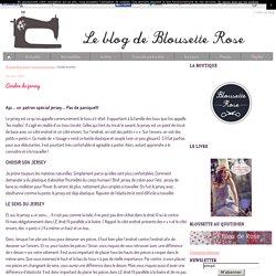 Coudre du jersey - Blousette Rose, le blog