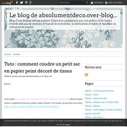Tuto : comment coudre un petit sac en papier peint décoré de tissus - Le blog de absolumentdeco.over-blog.com
