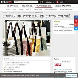 Coudre un Tote Bag en coton coloré