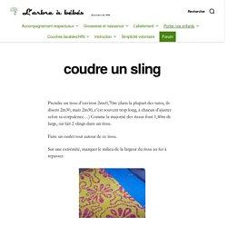 coudre un sling – L'arbre à bébés