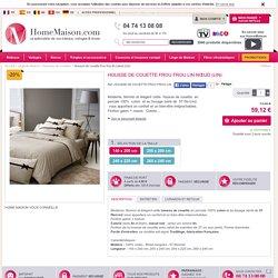Housse de couette frou frou lin nœud (Lin) - Homemaison : vente en ligne housses de couettes