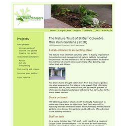 Cougar Creek Streamkeepers - Rain gardens - Nature Trust of BC