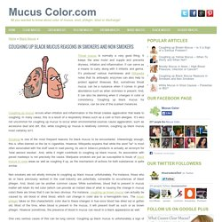 Coughing up Black Mucus Reasons in Smokers and Non Smokers