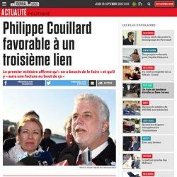 Philippe Couillard favorable à un troisième lien