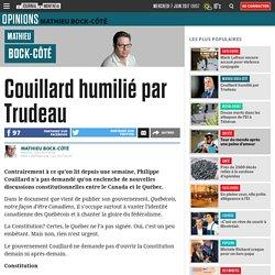 Couillard humilié par Trudeau