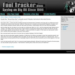 "Could the ""Great Gas Out"" actually work? Maybe, but only in the short term. 