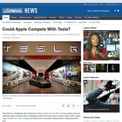 Could Apple Compete With Tesla?