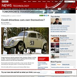 uld driverless cars own themselves?